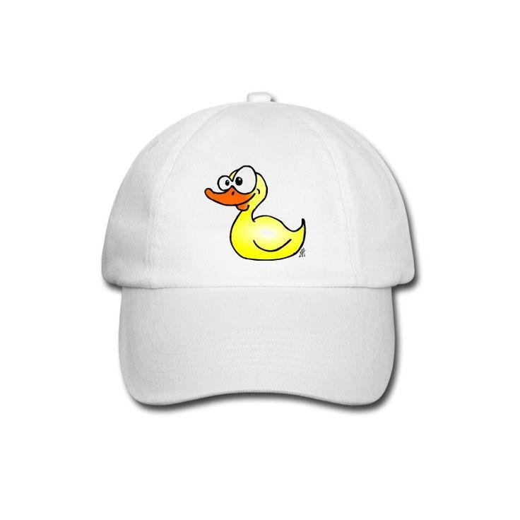 Badeente - Gummi-Ente Baseballkappe. Rubber duck baseball cap. #duck #Spreadshirt #Cardvibes #Tekenaartje #SOLD