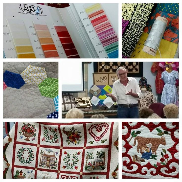 #aurifil lecture at the Fabric Warehouse. FL.