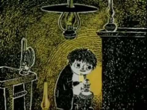 Tove Jansson (1914-2001)  Vem skall trösta knyttet?  Animerad film av Johan Högelbäck med musik av Peter Lundblad. In Swedish.
