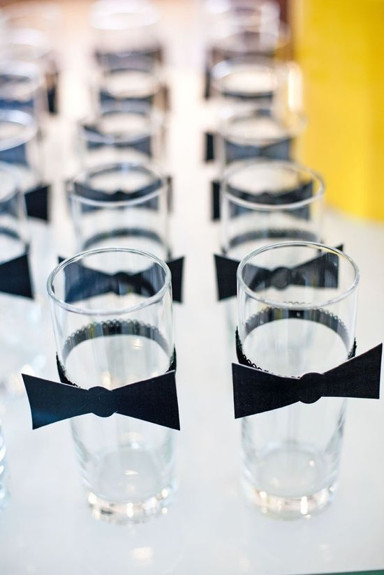 Bow Tie Party Decorations | Bow Tie Drink Tags