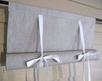 Classic Custom Tie Up Window Shades and Curtains by BettyandBabs