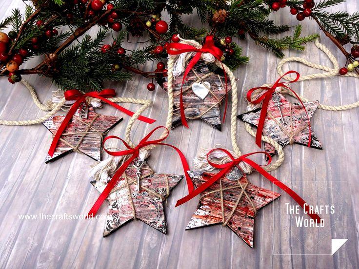 Christmas garland of stars