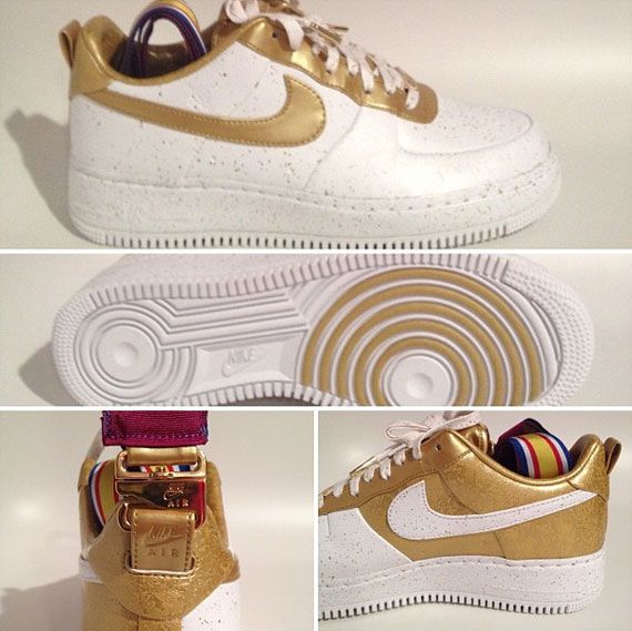 "shot #2 of the Air Force 1 ""Gold Medal"" - no joke!"