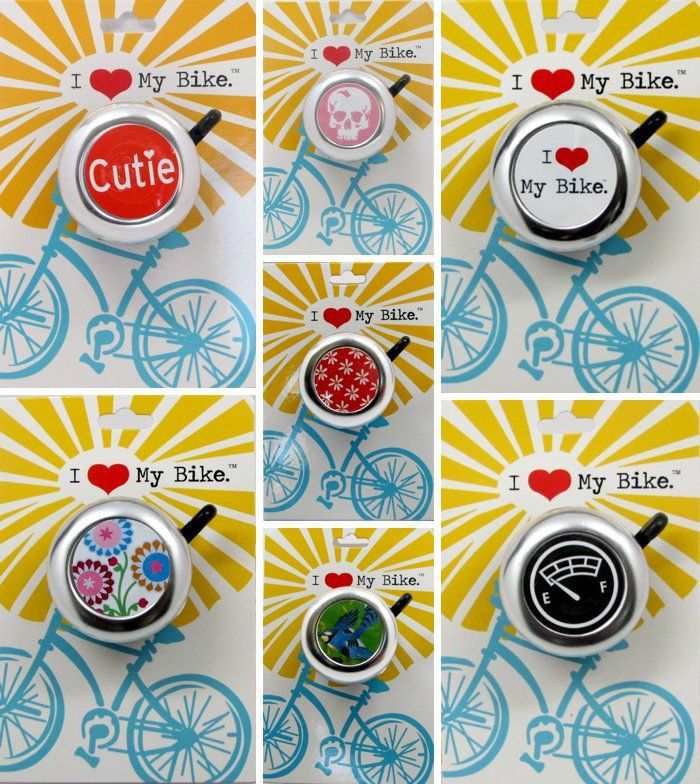Adorable vintage style bike bells for kids + adults. *too cool. loved mine as a kid!