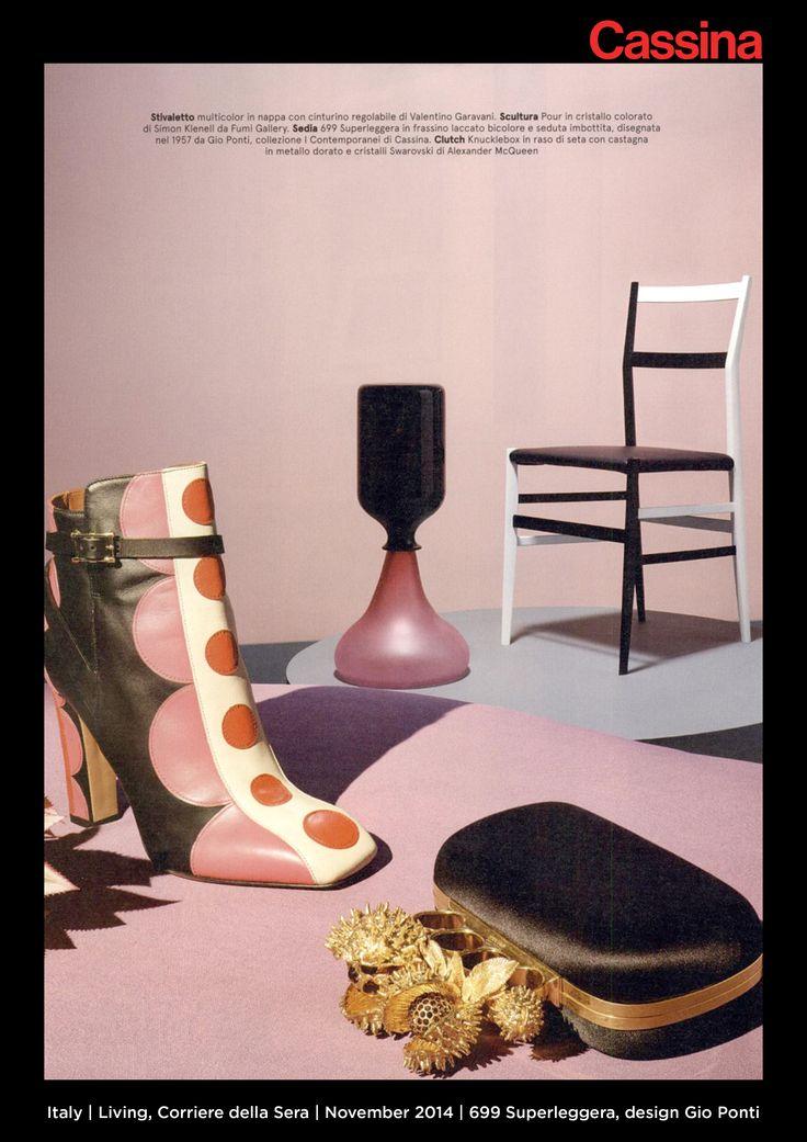 Italy | Living, Corriere della Sera | November 2014 | 699 Superleggera, design Gio Ponti | Discover more on:http://cassina.com/it/collezione/sedie-e-poltroncine/699