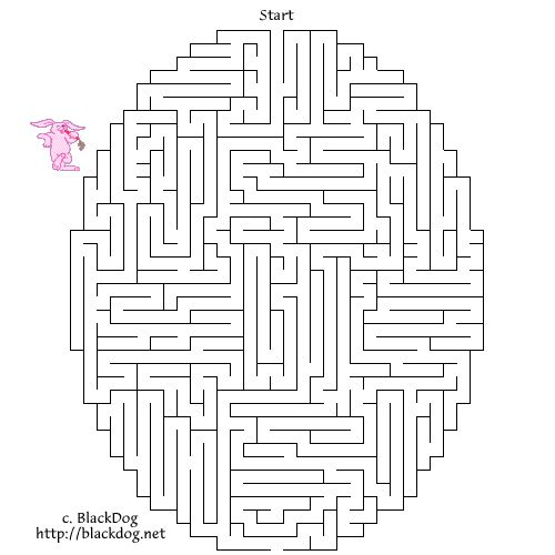 Easter Egg Maze Pages Printable | ... activity pages valentines day coloring pages easter coloring pages