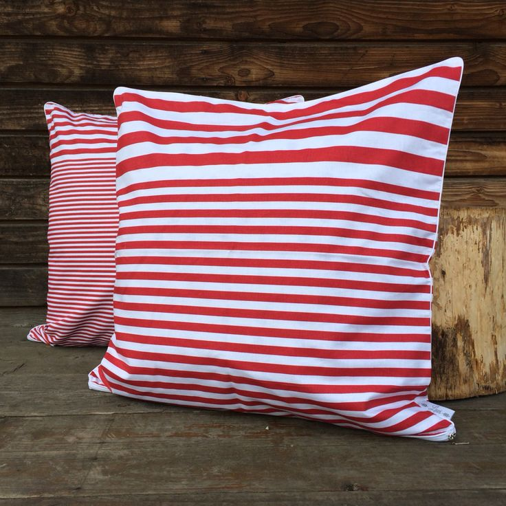three types of stripes on one cushion