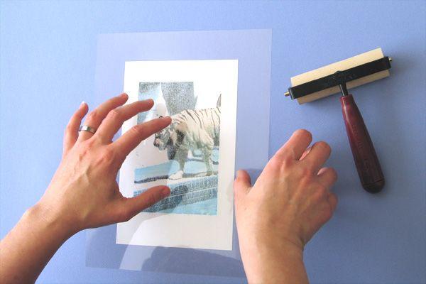 Print transfers using an inkjet printer and transparencies. Magic!
