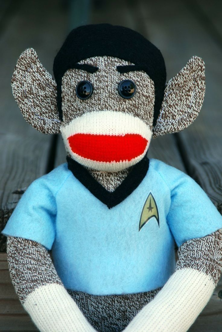 Spock Monkey - Ready to Ship. $49.00, via Etsy.