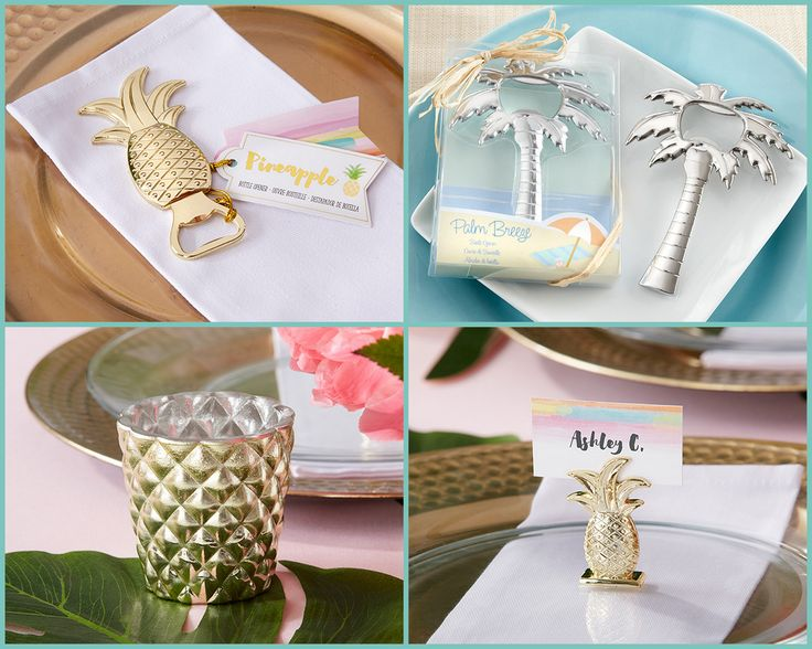 Tropical Wedding Party Favors from HotRef.com