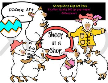 This Sheep Shop Clipart collection includes all the images shown in the sample picture and more. This clipart pack is a parody of the book Sheep in a Shop. This group includes 16 different clips:* Black line masters of all clips* Sheep (many poses)* Beach ball* Sign* So CuteGraphics come in PNG format 300 dpi format.My graphics are suitable for printing and digital projects and can be easily re-sized smaller to suit other needs, graphics measure different sizes and can be resized.Original…