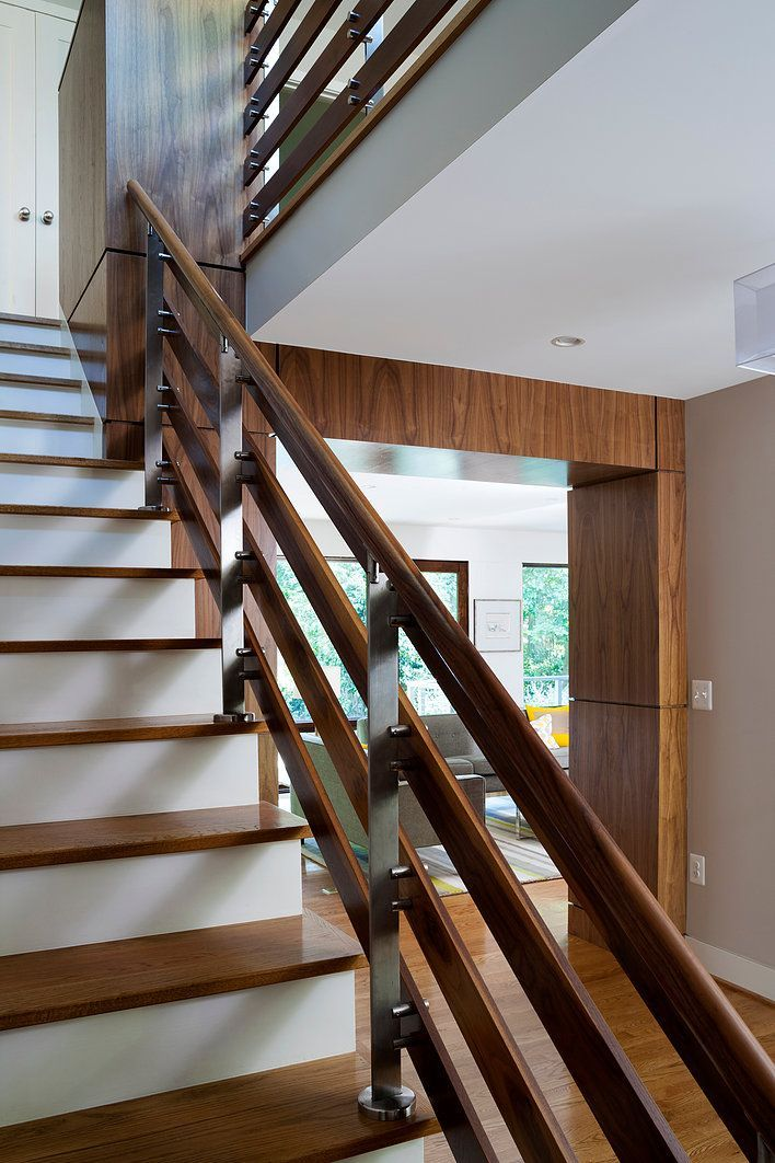 Image Result For Mid Century Modern Stair Railing Stairs Modern