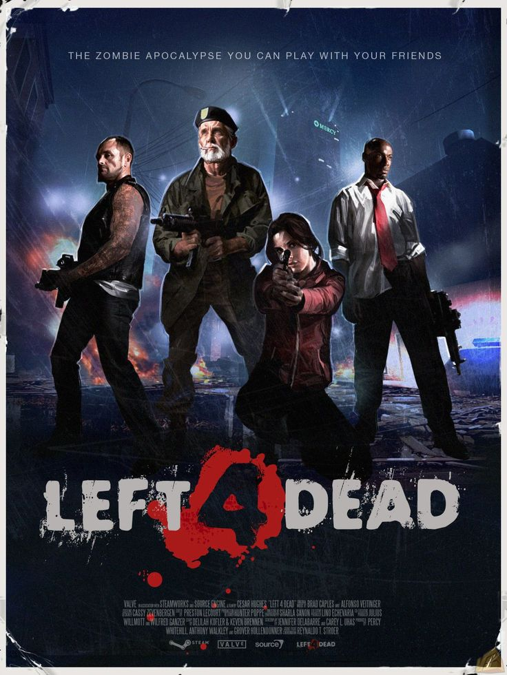 Left 4 Dead: who doesn't enjoy a good 'ol zombie apocalypse?  I love this game!