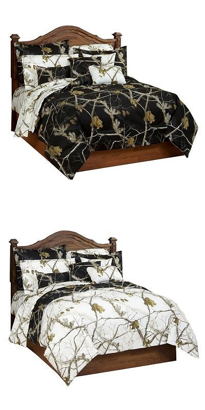Comforters and Sets 45462: Realtree® Ap Black Snow Camo Bedding Comforter And Sham Set ~Twin Full Queen King -> BUY IT NOW ONLY: $119.99 on eBay!