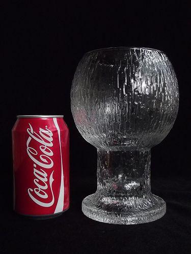 "Iittala ""Kekkerit"" textured glass vase. Designed by Timo Sarpaneva _ photo taken by Daniel/Art of Glass, on Flickr"