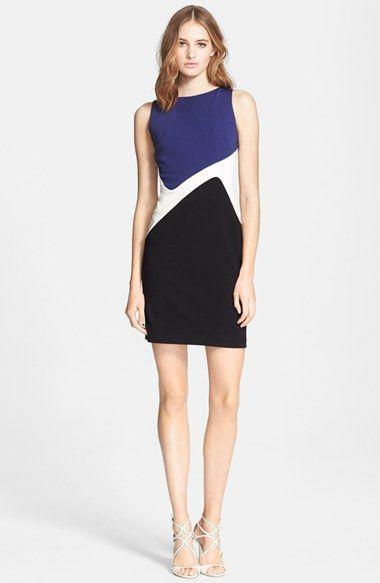 Emilio Pucci Colorblock Punto Milano Sheath Dress available at #Nordstrom