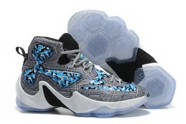Nike Lebron Xiii(13) Camo Grey Sneakers Online(USD 89.99)-Shop Nike Free 5,0 Sko Online Butik Gratis Forsendelse Alle Ordrer!