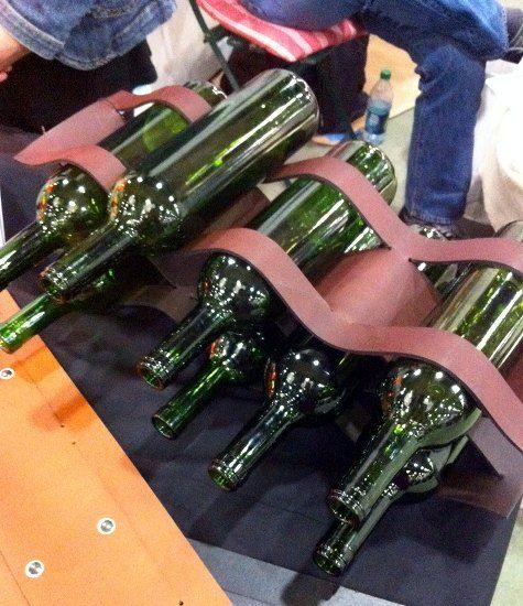 simple leather wine rack