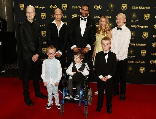 #GregInglis and patients from the Sydney Childrens Hospital arrive at the Dally M Awards at Star City on September 29, 2014 in Sydney, Australia.