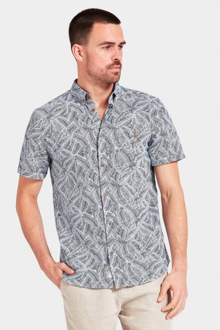 The Academy Brand - Kalani Ss Shirt - Navy/White