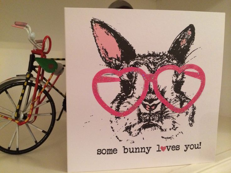 Bunny loves you card @ etsy shop thingsilove.me