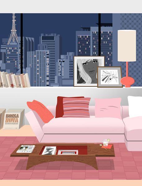 Sao Paulo for IDEAT Magazine, Paris | Paolo Mariotti - illustrator