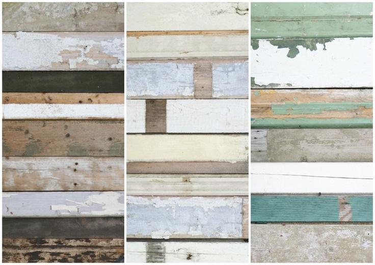 sloophouit behang / scrapwood wallpaper