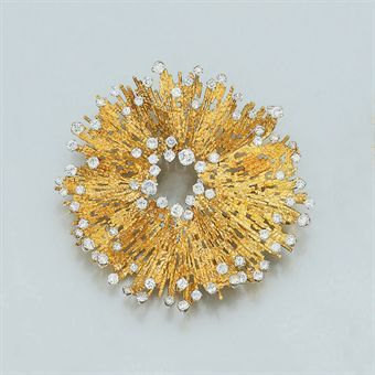 An 18ct. Gold and Diamond Brooch, by Andrew Grima | Jewelry Auction | Jewelry, brooch | Christie's