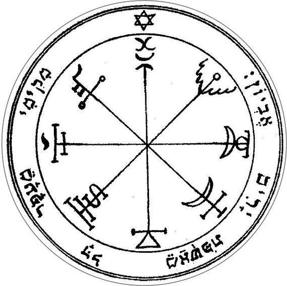 Seal of Solomon Third Pentacle of the Sun Vinyl Sticker Decal 24