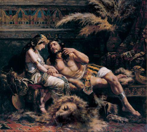 Samson and Delilah - Jose Echenagusia 1887
