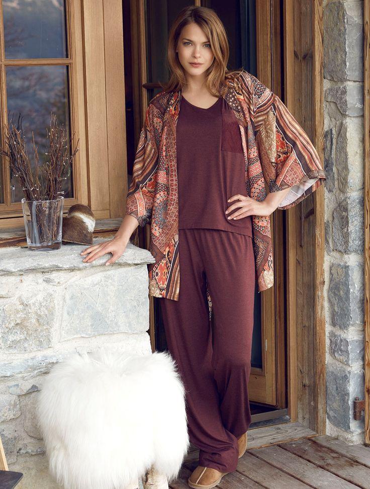 Penye Mood 7830 Bayan 3'lü Pijama Takım | Mark-ha.com