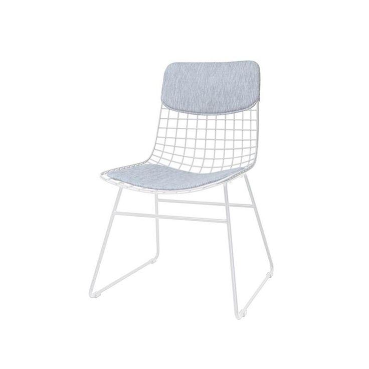 HK Living Kussenset metalen draad stoel
