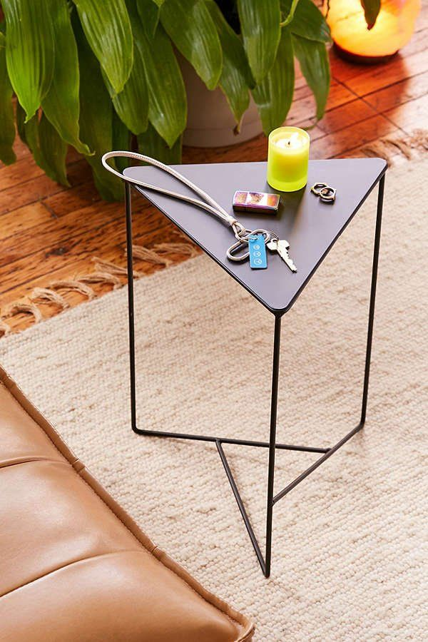 Triangle Side Table Metal Side Table Geometric Furniture Coffee Table Design