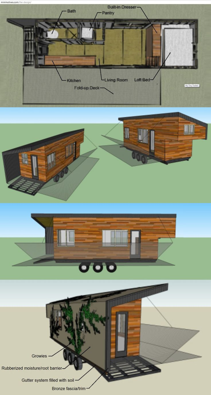 Wood Flatbed Trailer ~ Sq ft sf loft tiny house built using many