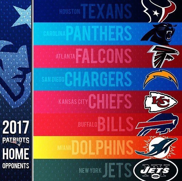 Patriots 2017 Home Opponents