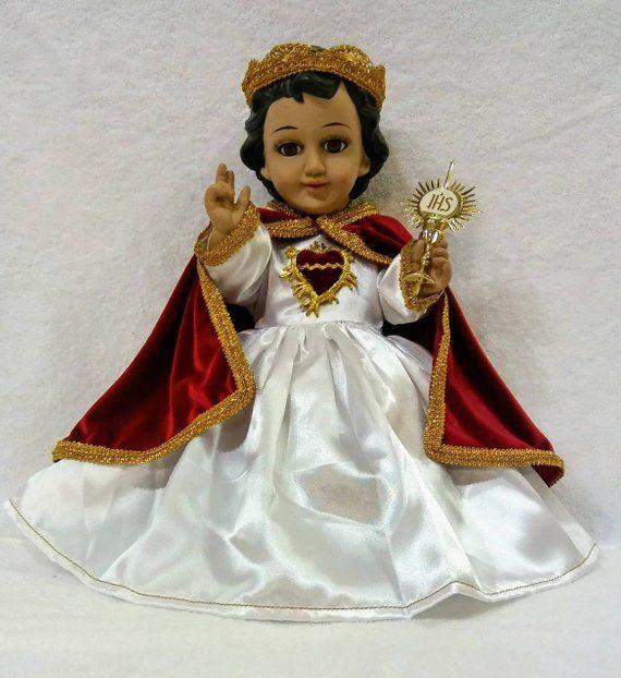 BAUTIZO Ropa Nino Dios,Baby Jesus clothing Nino Rey Blanco Vestido Nino Dios