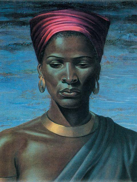 Vladimir Tretchikoff Zulu Girl 1951 Lithograph 57x71cm Printed in South Afrika.   #Art #Zulu #AfricanArt #BlackArt #Painting #Litograph