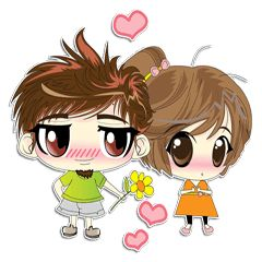 Cute Couple in Love. - Stickers dos criadores