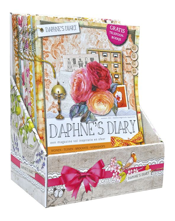 Daphne's Diary Magazine stand cardboard