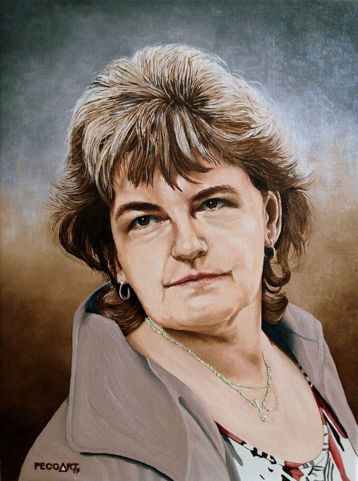 Eva by Peco Art ...Oil on canvas, 30x40cm...