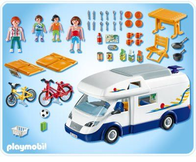 playmobil 4859 grote familie kampeerwagen