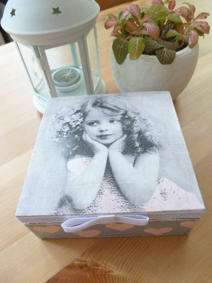drewniane pudełko retro #decoupage #handmade #retro #box