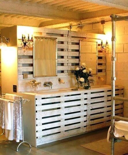 idee deco bois idee deco bois brut | Wohnzimmer | Pallet bathroom ...