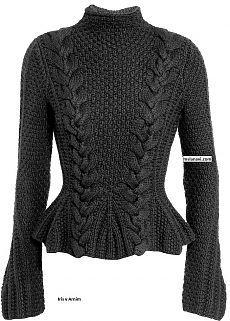 Модный пуловер спицами от Iris von Arnim | Мисс Лана Ви | Ms Lana Vi