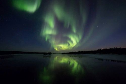 Reflecting Aurora Borealis. #Photography #NorthernLights #Finland
