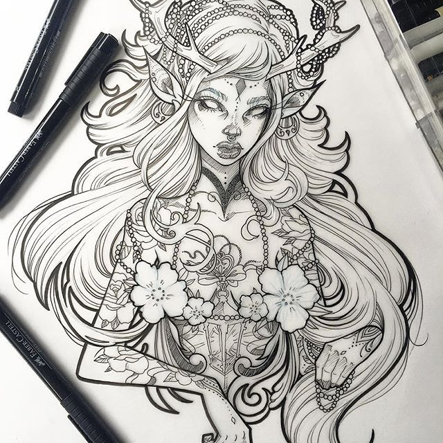 117 Best Images About Tattoos And Other Stuff On Pinterest: 25+ Beste Ideeën Over Meisjes Schets Op Pinterest