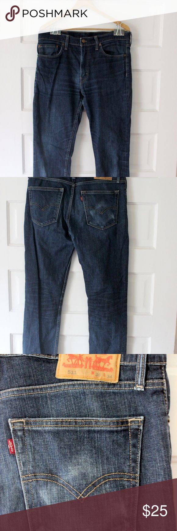 Selling this Men's Levi 511 Jeans 36x34 Dark Blue/Indigo on Poshmark! My username is: tonyabeeler. #shopmycloset #poshmark #fashion #shopping #style #forsale #Levi's #Other