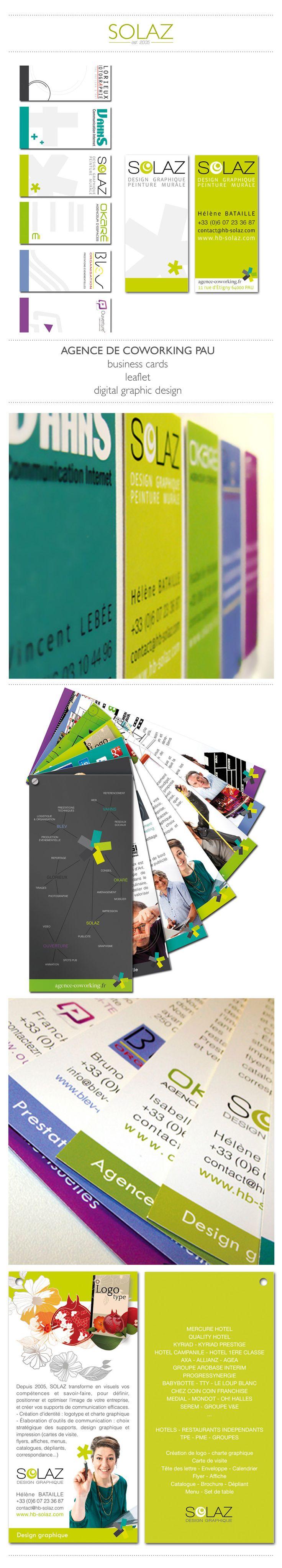 AGENCE DE COWORKING - on Behance - #logo #brandidentity #businesscard #catalogue #leaflets #pantone #chart #team #communication #collection #series #colors