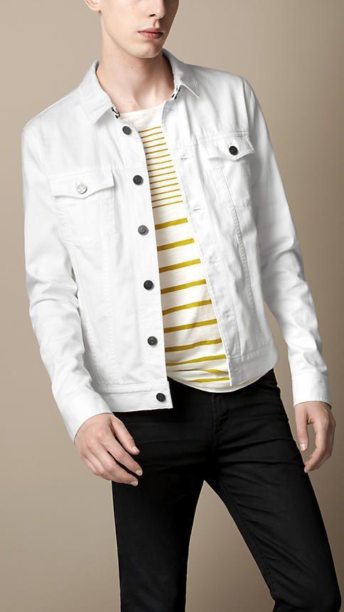 Burberry Brit Classic White Denim Jacket
