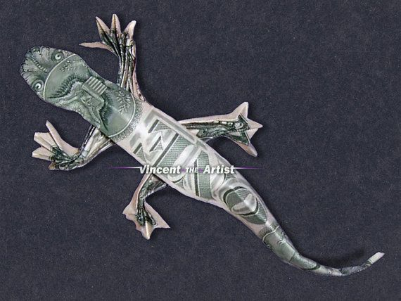 Dollar Bill Origami LIZARD